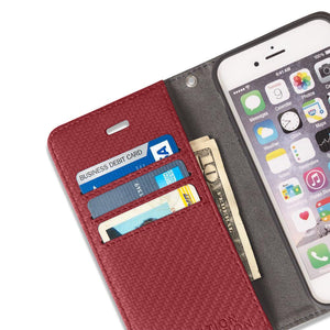 Red Detachable Wallet Case for iPhone 6 Plus/6s Plus, 7 Plus & 8 Plus