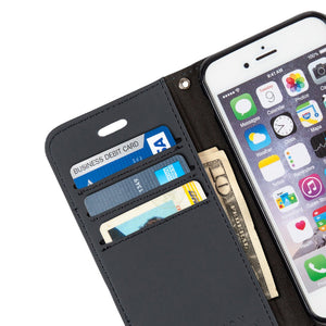 Grey Anti-Radiation and RFID Blocking Wallet Case for iPhone 6 Plus, 7 Plus & 8 Plus