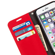 red Anti-Radiation Wallet Case for iPhone 6 Plus, 7 Plus & 8 Plus