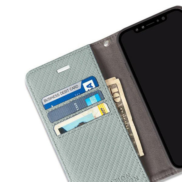 Grey iPhone Xs Max Detachable Anti-Radiation Wallet Case