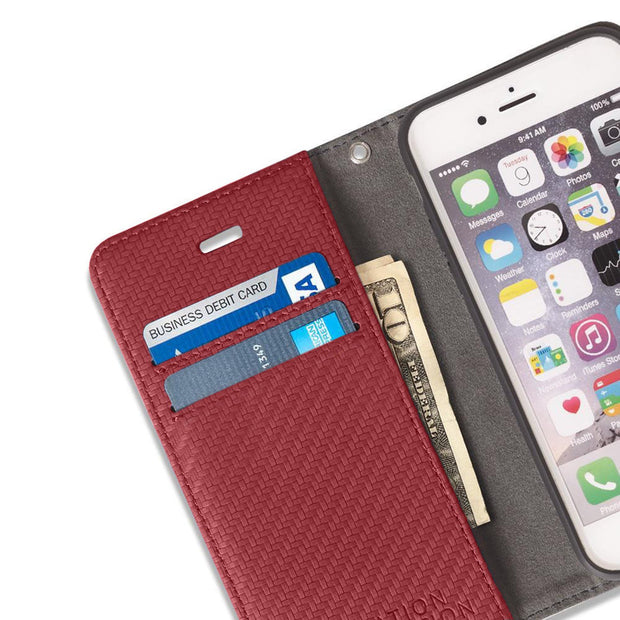 Red iPhone SE & 5/5s RFID blocking wallet