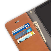 Brown iPhone 11 RFID blocking Wallet Case