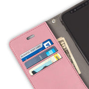 pink anti-radiation and RFID blocking wallet case for iPhone XR (10 R)