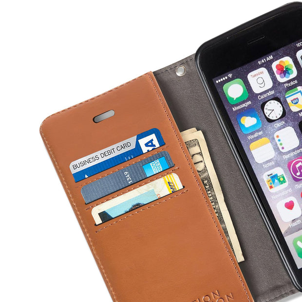 light brown iPhone 6/6s, 7 & 8 anti-radiation wallet case