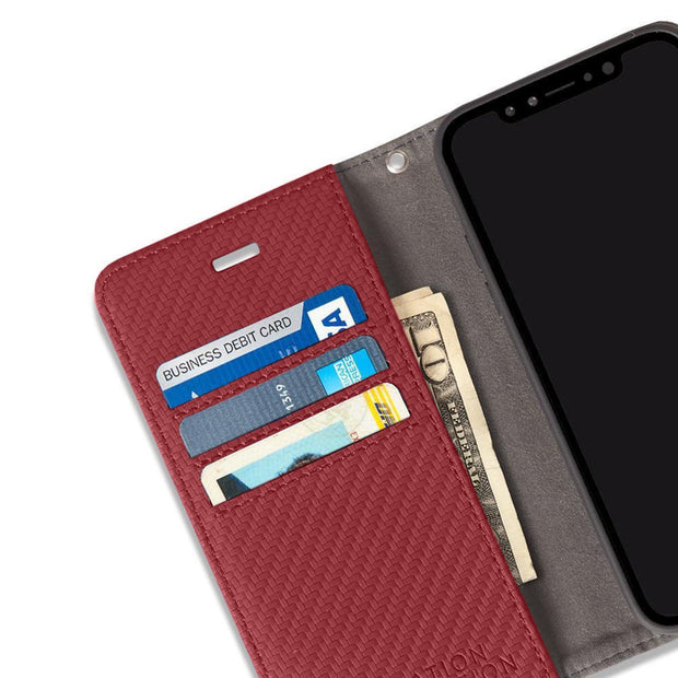 Red Anti-Radiation Wallet Case for the iPhone 11