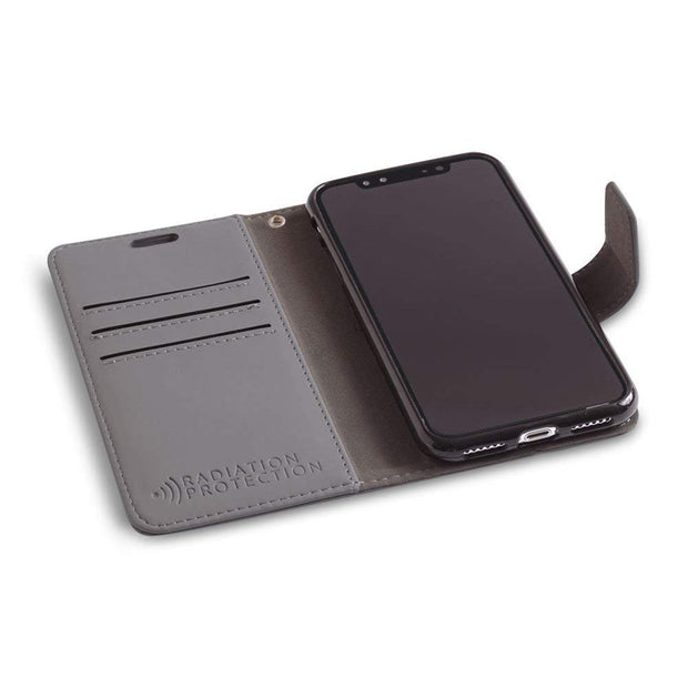 grey iPhone XR (10 R) anti-radiation wallet case