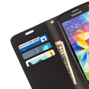 anti-radiation and RFID Blocking wallet case for the Samsung Galaxy S6.