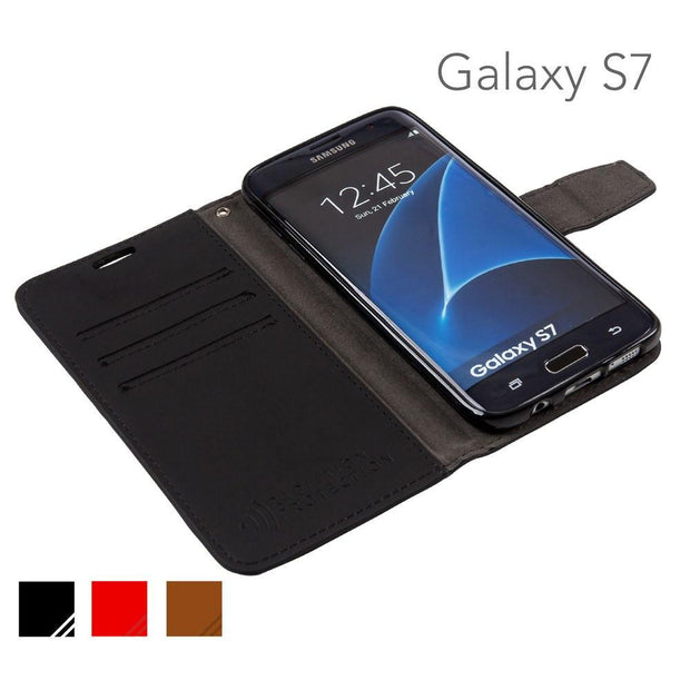 cell phone radiation blocker and rfid wallet for the black samsung galaxy s7 by SafeSleeve