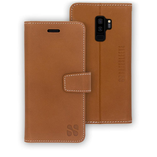 leather Samsung Galaxy S9 Plus RFID blocking wallet