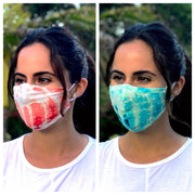 Fabric Face Masks - Black 2-Pack & Tie-Dye 2-Pack