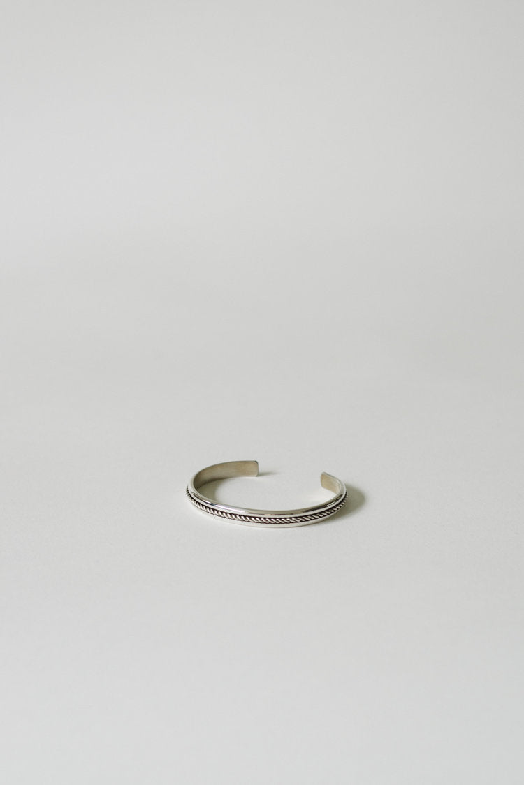 Sterling Silver Cuff with Rope Detail