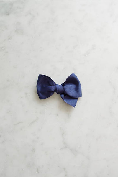 Eva's House x Tessa James Madeline Bow Barrette (Navy)