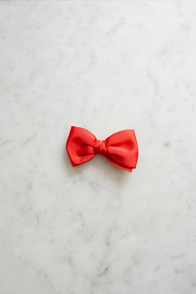 Madeline Bow Barrette (Red)