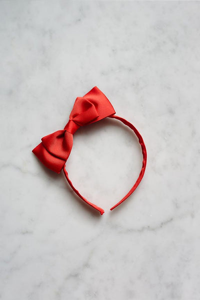 Madeline Bow Headband (Red)