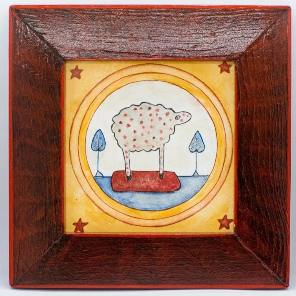 Framed Watercolor - This Little Sheep