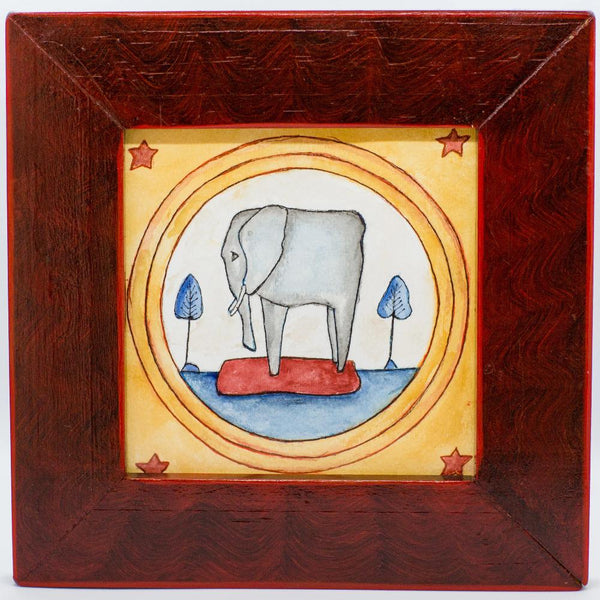 Framed Watercolor - This Little Elephant