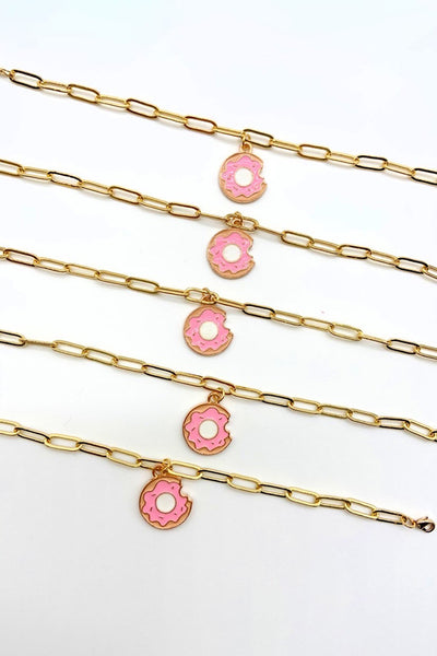 The Roze Boutique x Tessa James Donut Charm Bracelet