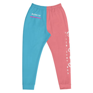 Open image in slideshow, Mixed Emotions Joggers (Blue/Pink)