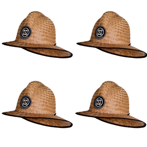4 Pack of Straw Firefighter Hats! Lg/XL - Saint Florian Clothing