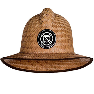 Straw Firefighter Hat- Large/XL 60cm