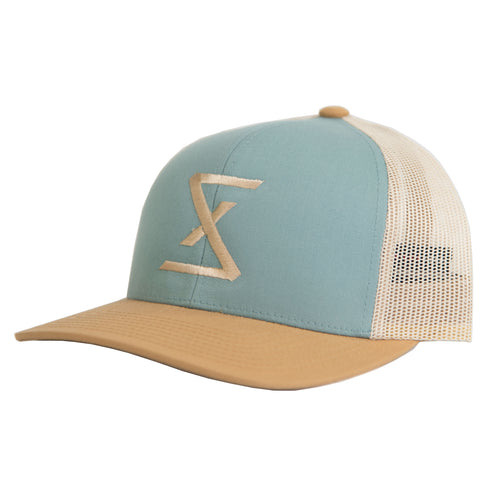 Smoke Blue | Amber Trucker Snapback Hat - Saint Florian Clothing