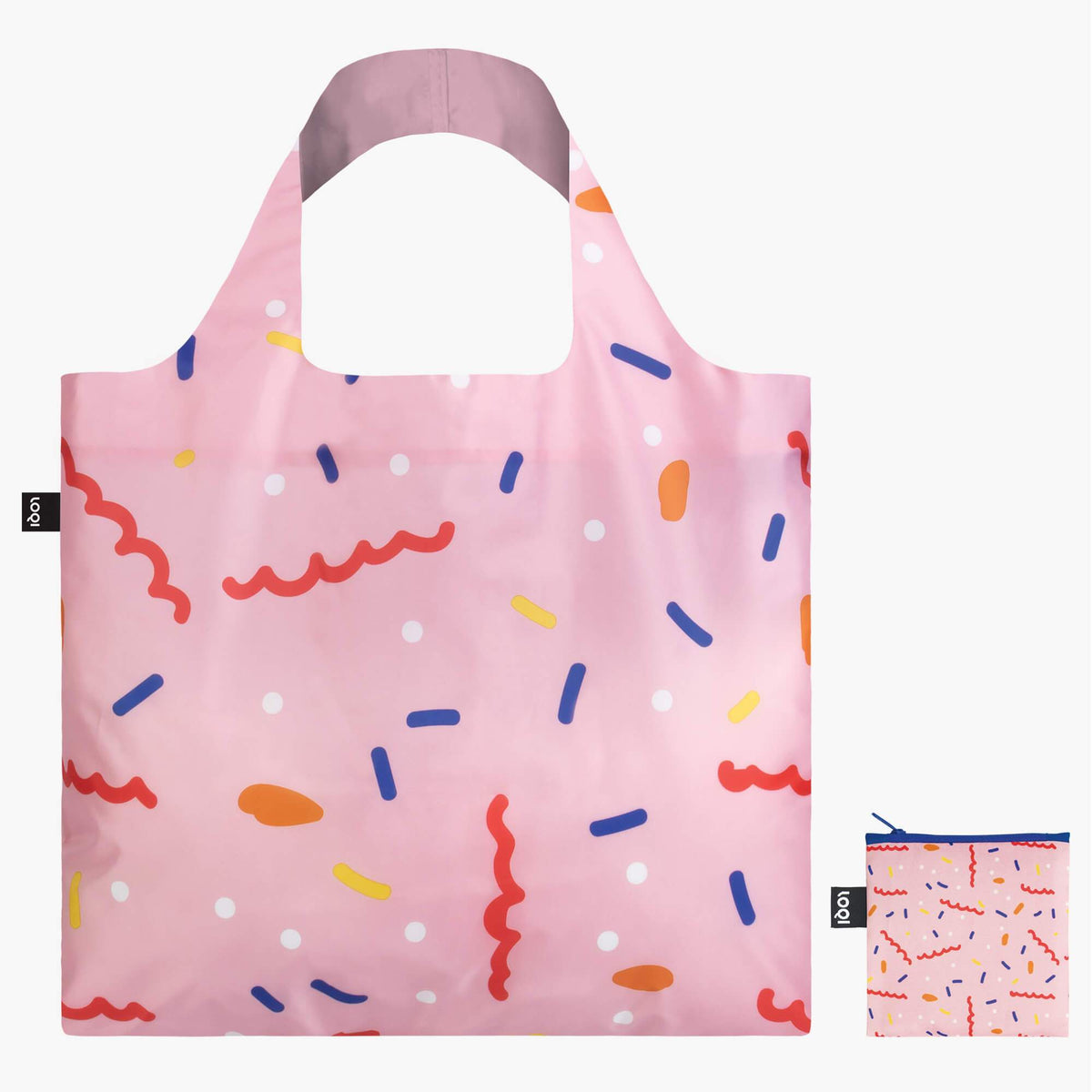 LOQI Céleste Wallaert Confetti Bag Front with Zip Pocket