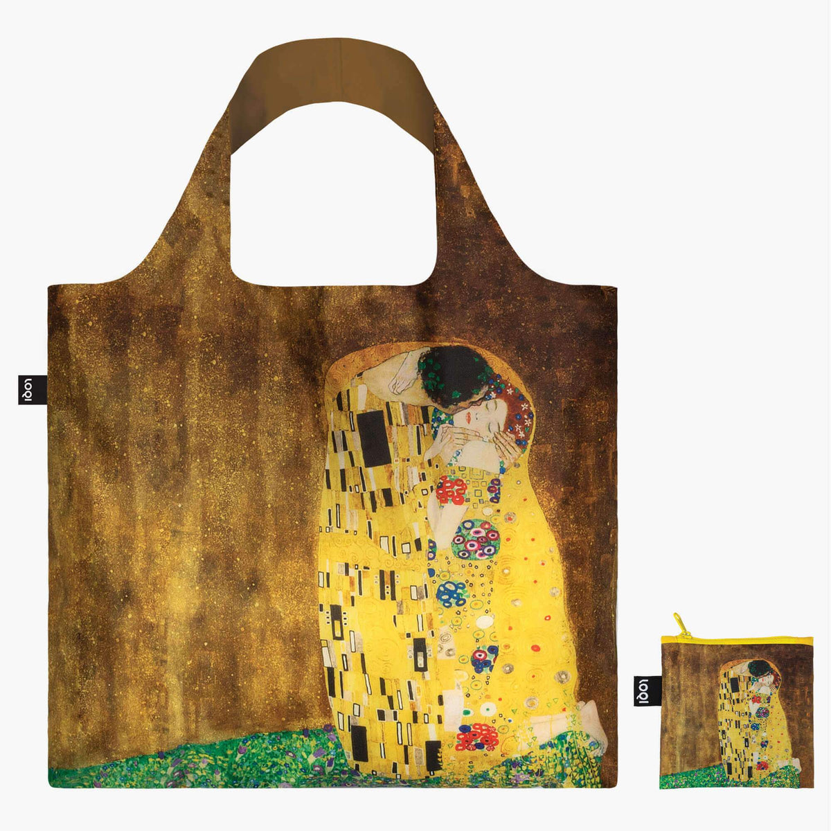 LOQI Gustav Klimt The Kiss, 1907-08 Bag with Zip Pocket