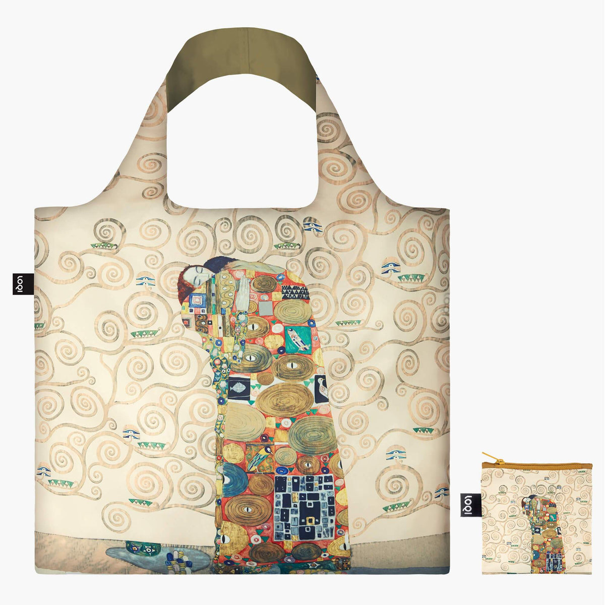LOQI Gustav Klimt The Fulfilment, 1909 Bag with Zip Pocket