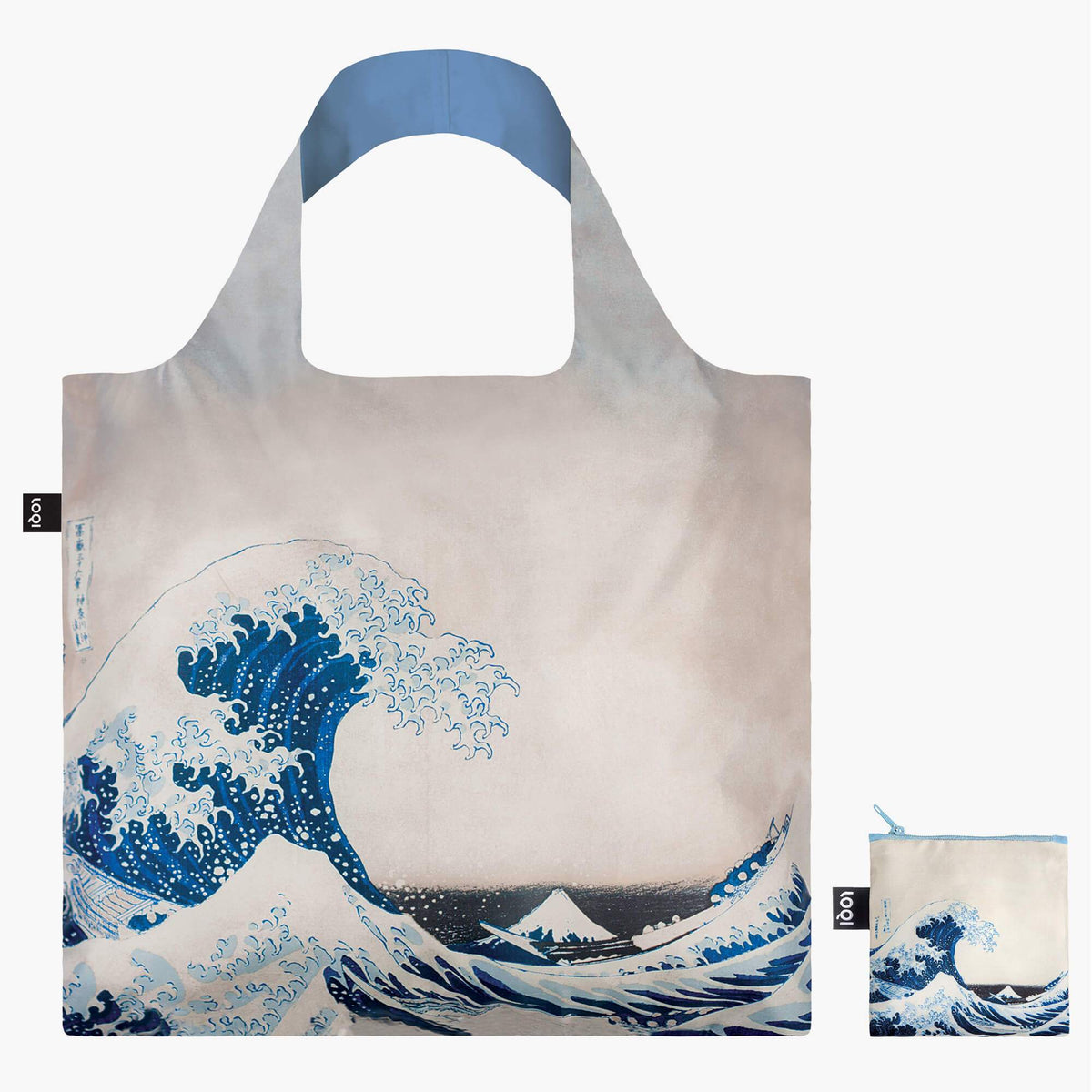 LOQI Katsushika Hokusai The Great Wave, 1831 Bag with Zip Pocket