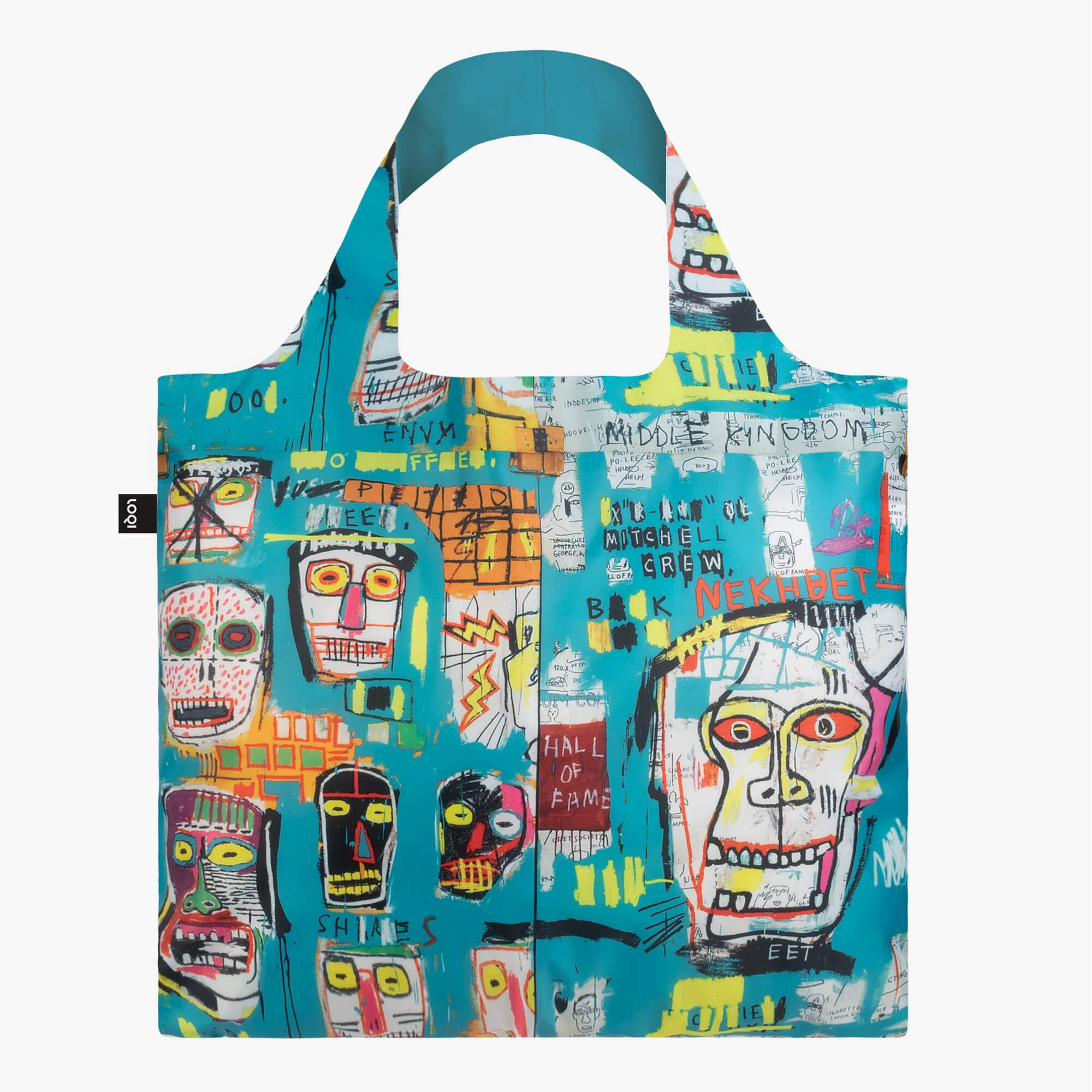 LOQI Jean-Michel Basquiat Skull Bag