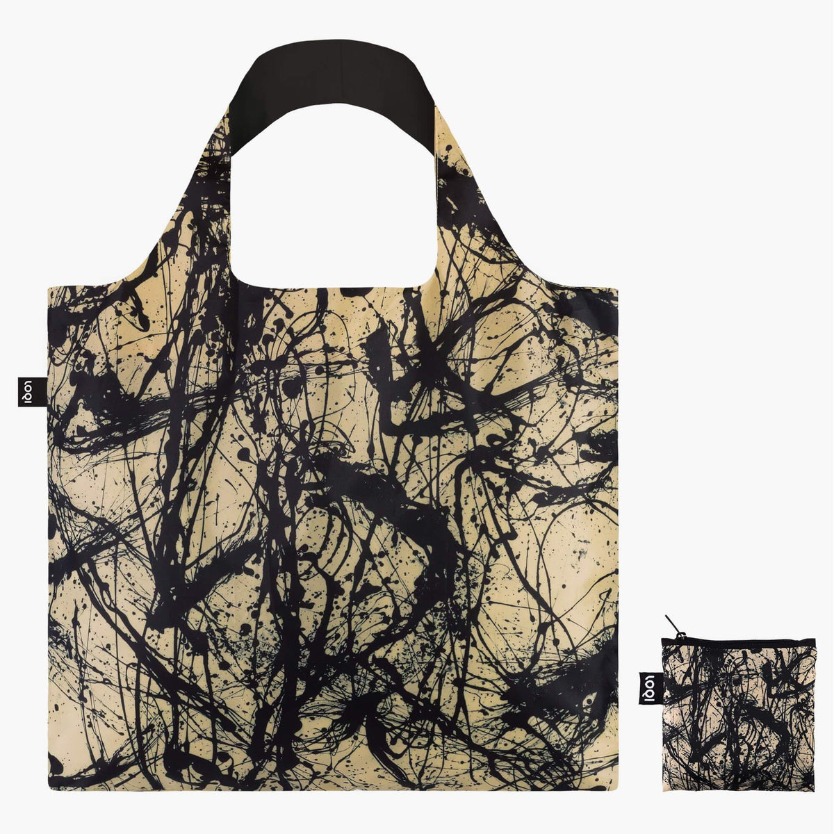 LOQI Jackson Pollock Number 32, 1950 Bag with Zip Pocket
