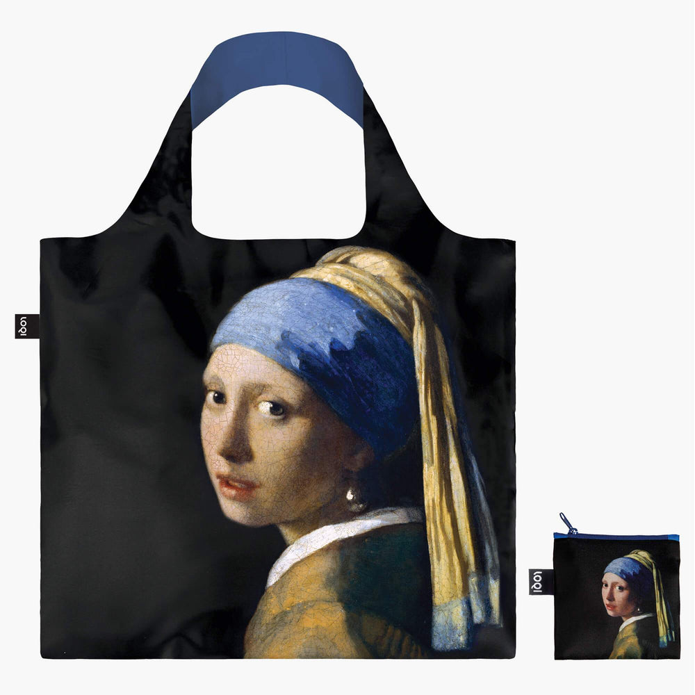 LOQI Johannes Vermeer Girl with a Pearl Earring, c.1665 Bag with Zip Pocket