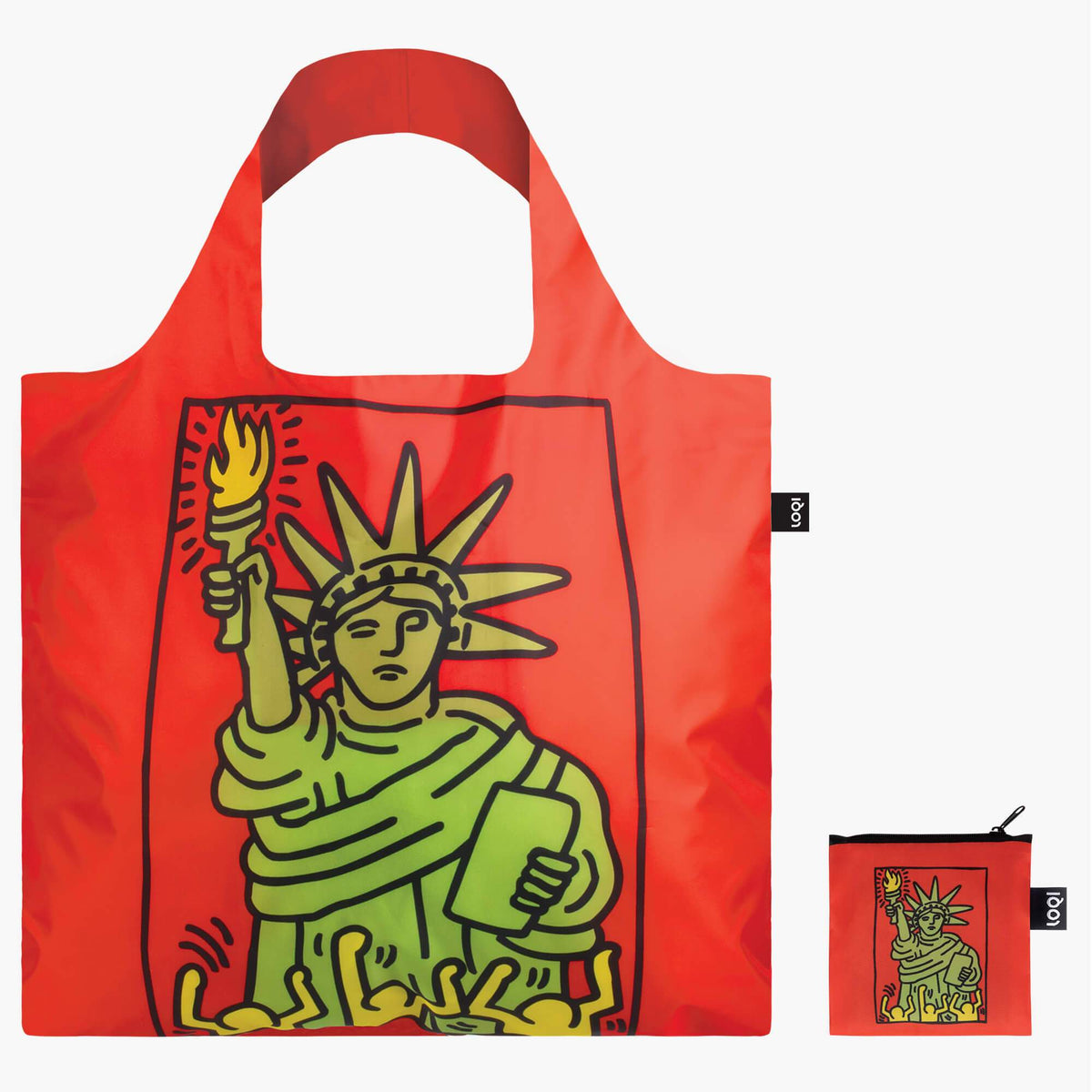 LOQI Keith Haring New York Bag Back with Zip Pocket