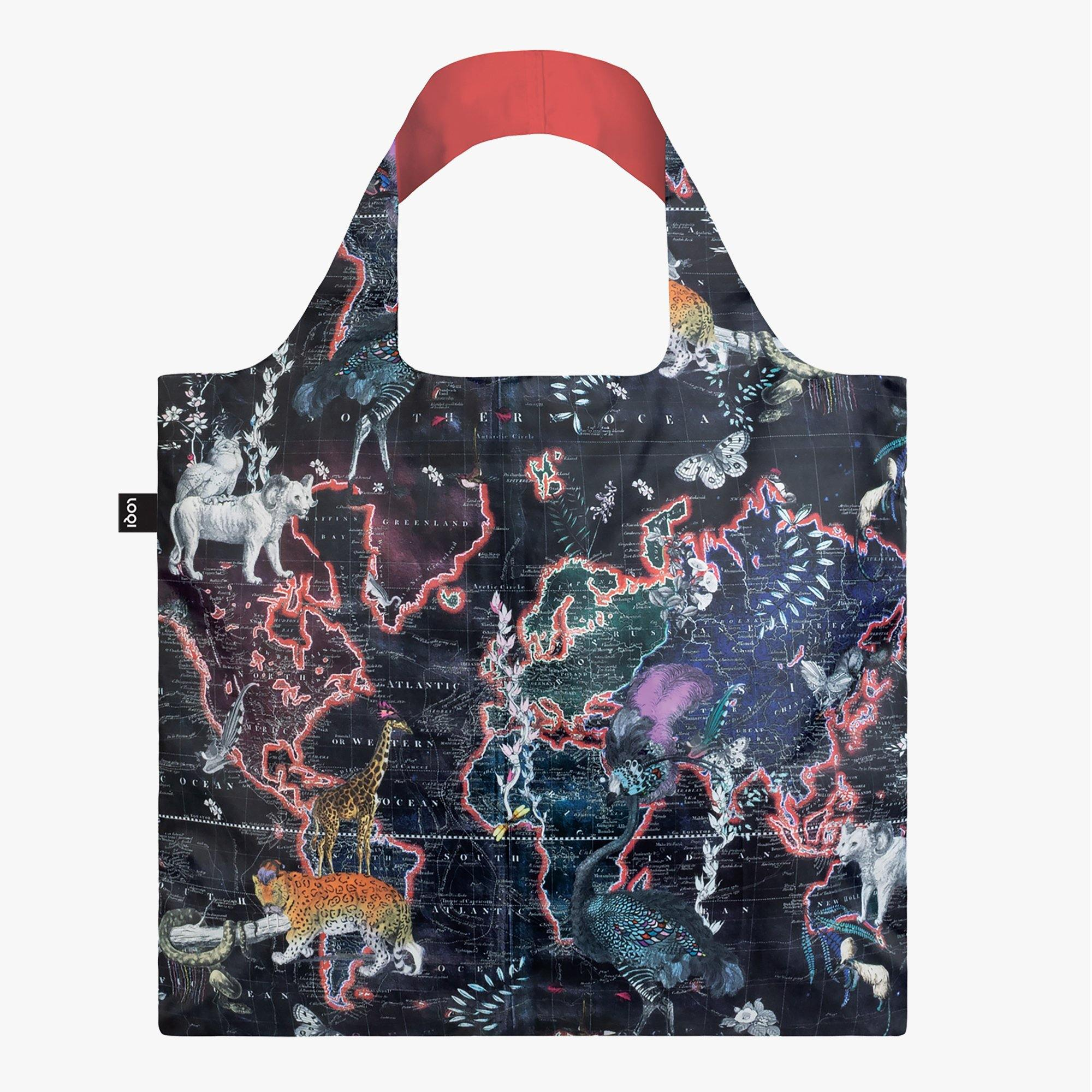 LOQI Kristjana S Williams Interiors World Map Bag