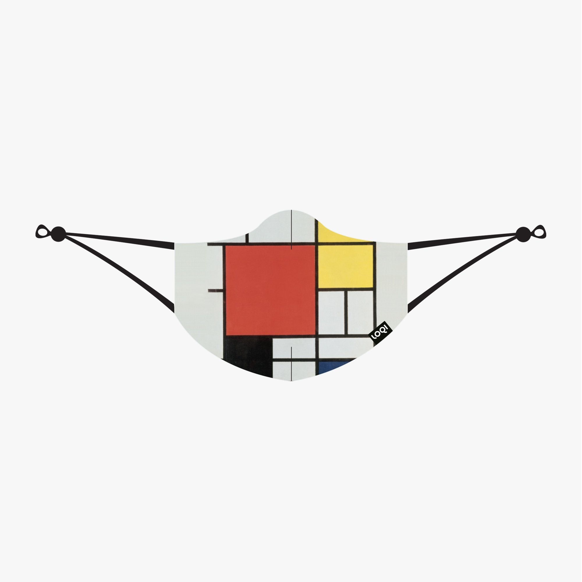 LOQI Composition with Red, Yellow, Blue and Black Mask