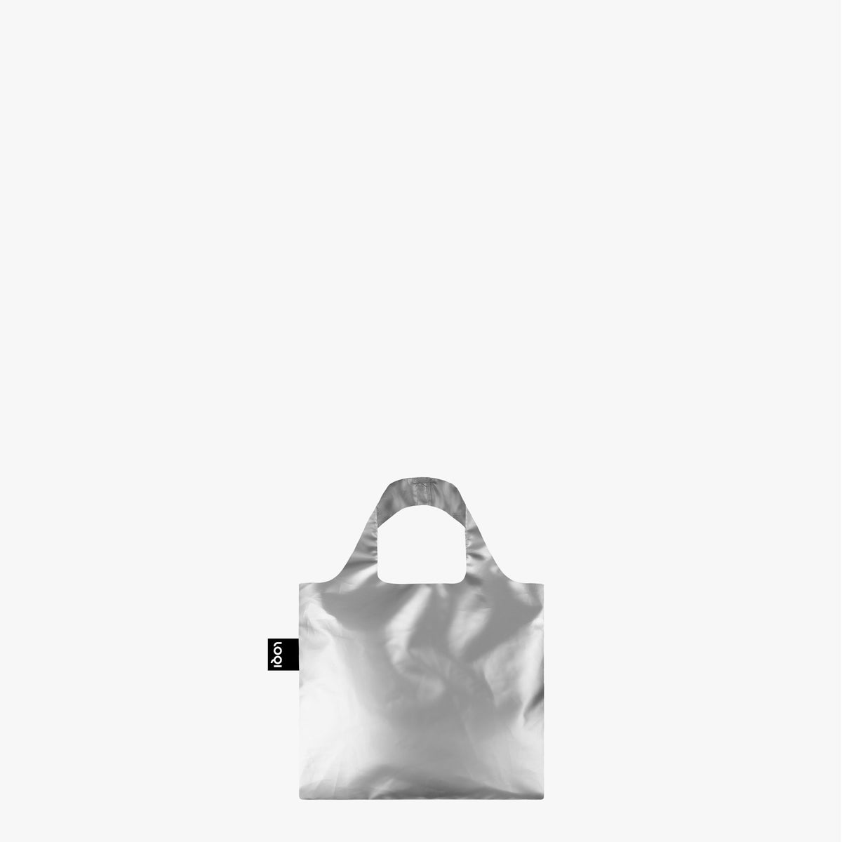 LOQI Metallic Silver Mini Bag