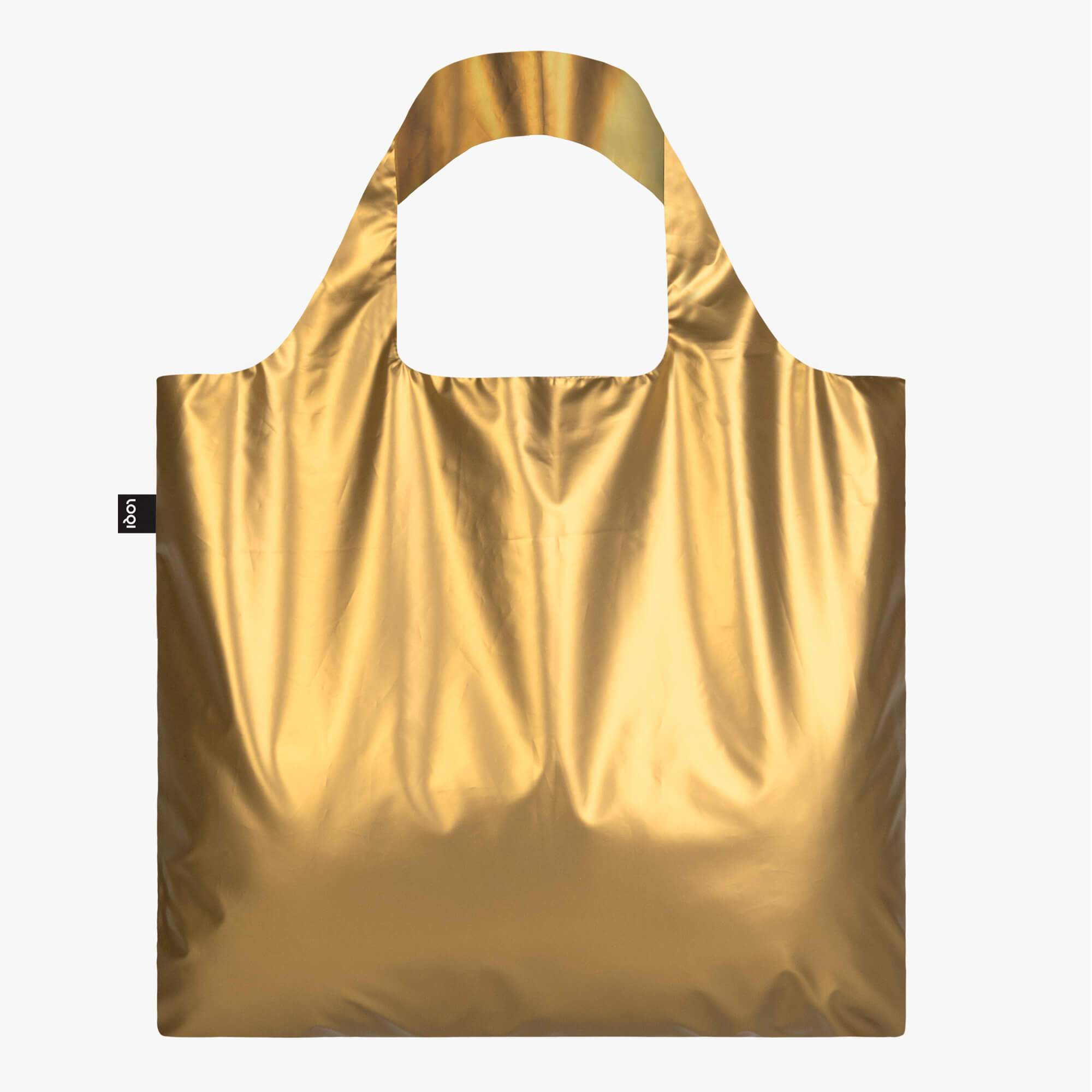 LOQI metallic matt gold bag RGB