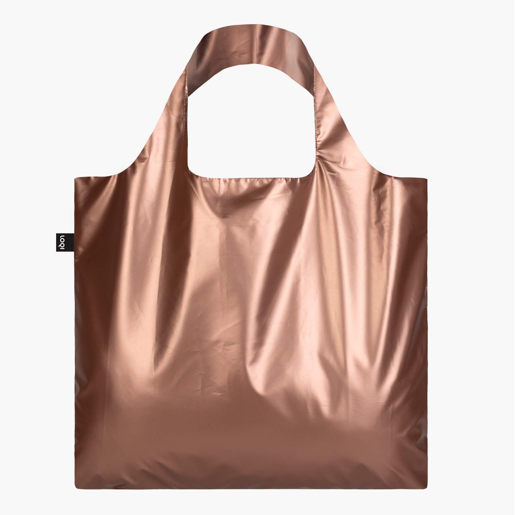 LOQI Metallic Matt Rose Gold Bag