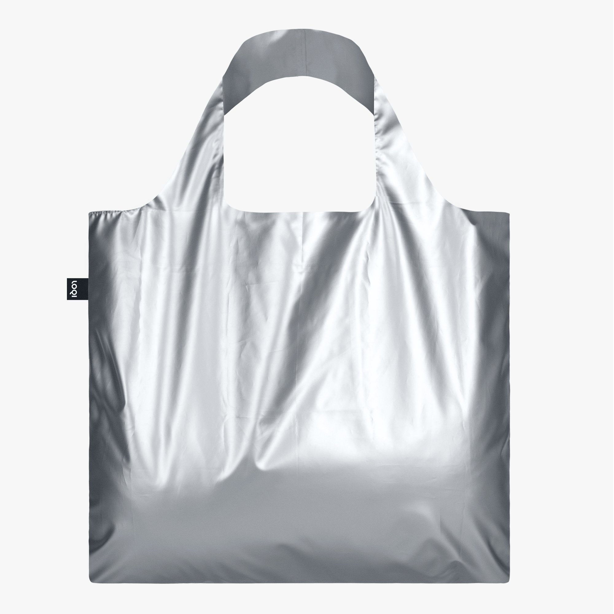 LOQI Metallic Matt Silver Bag