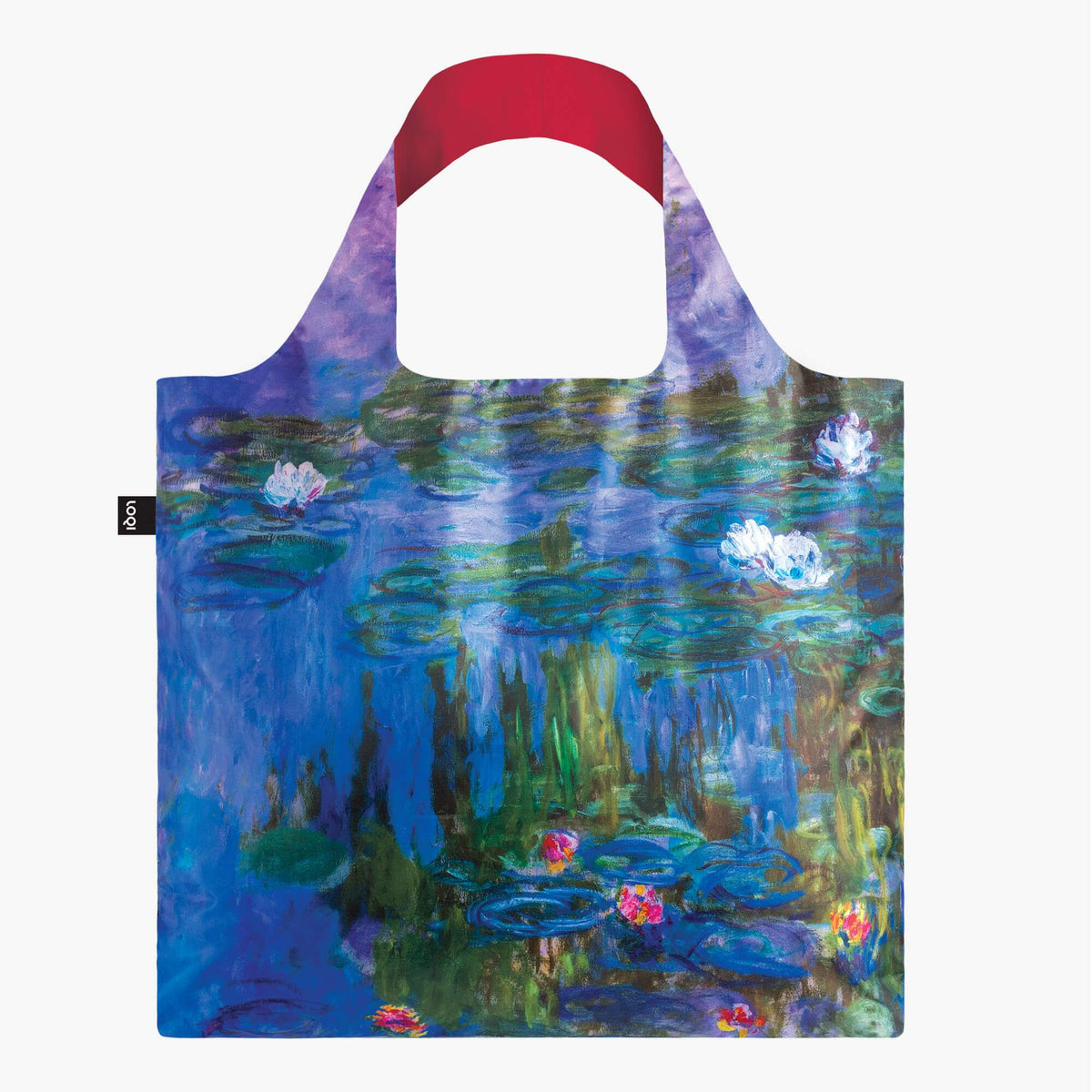 water-lilies-recycled-bag