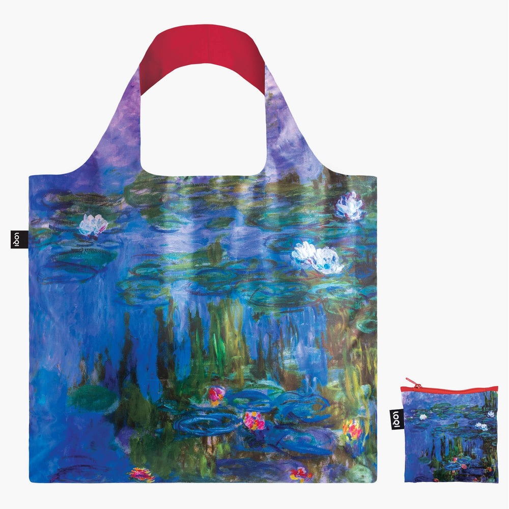 LOQI Claude Monet Water Lilies, 1913 Bag with Zip Pocket