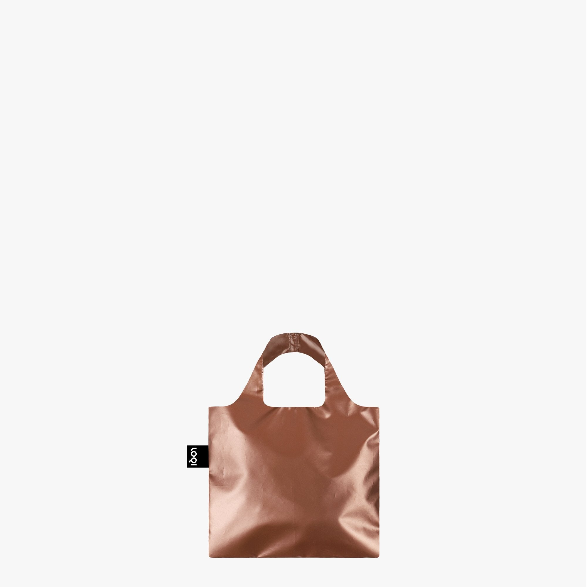 LOQI Metallic Rose Gold Mini Bag