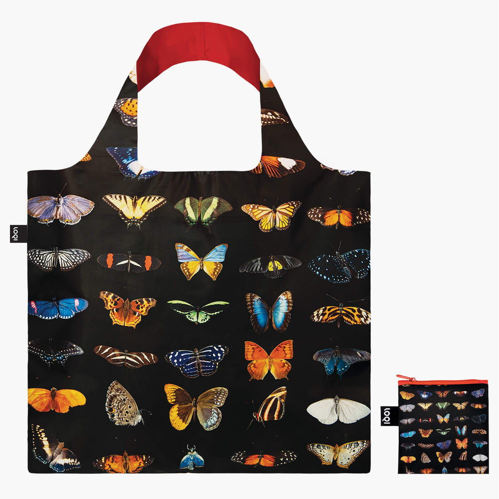 LOQI National Geographic Photo Ark Butterflies & Moths Bag with Zip Pocket