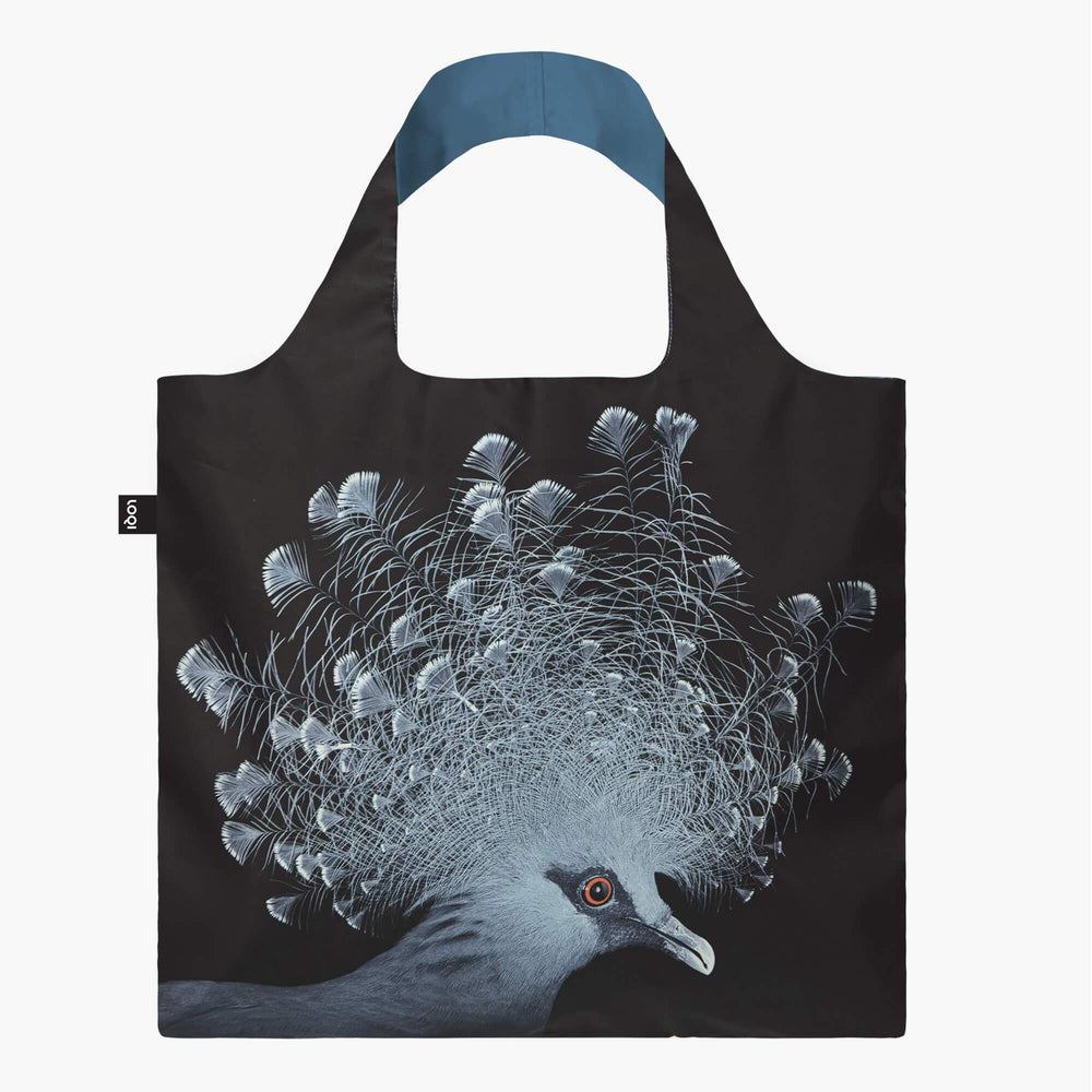 LOQI National Geographic Photo Ark Crowned Pigeon Bag