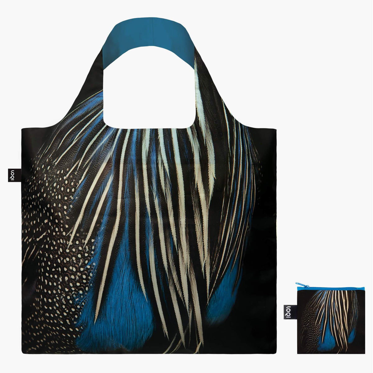 LOQI National Geographic Photo Ark Guineafowl Bag with Zip Pocket