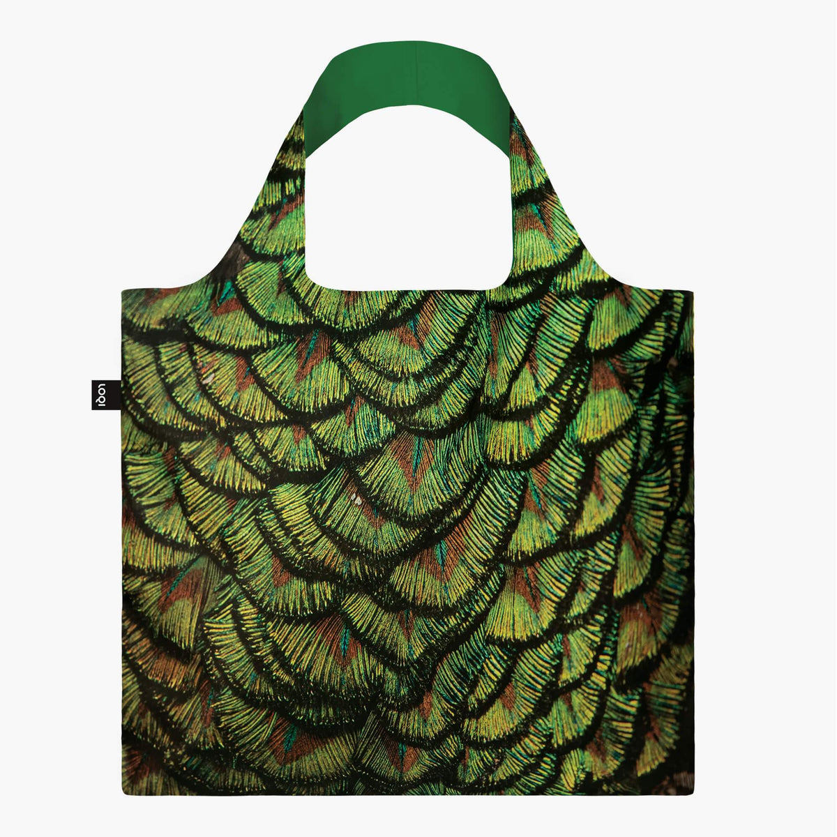 LOQI National Geographic Photo Ark Indian Peafowl Bag