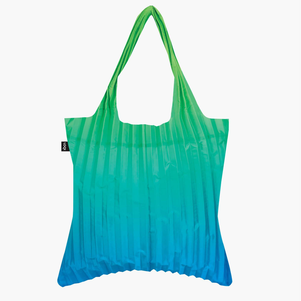 LOQI Pleated Rainbow Green Bag