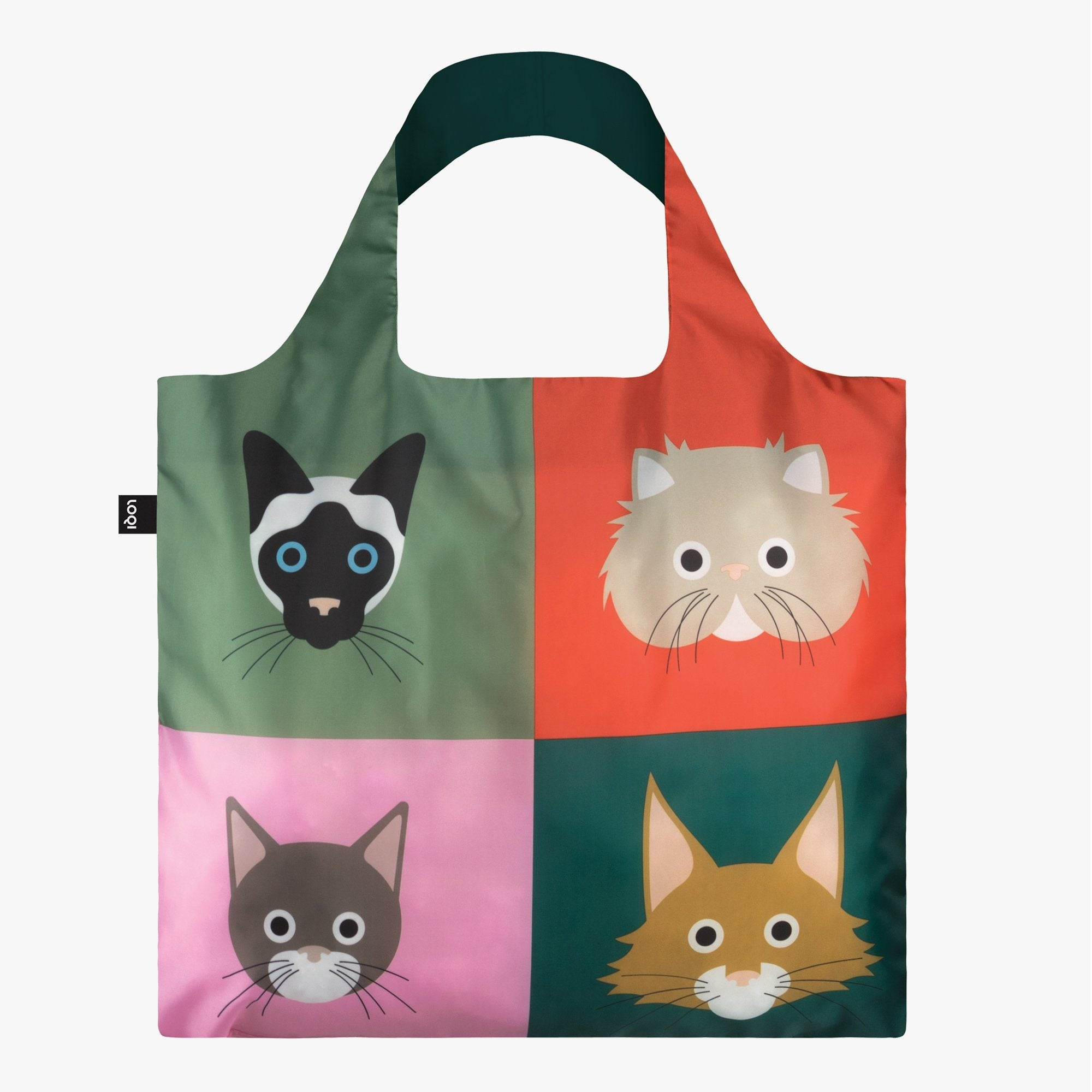 LOQI Stephen Cheetham Cats Bag Front