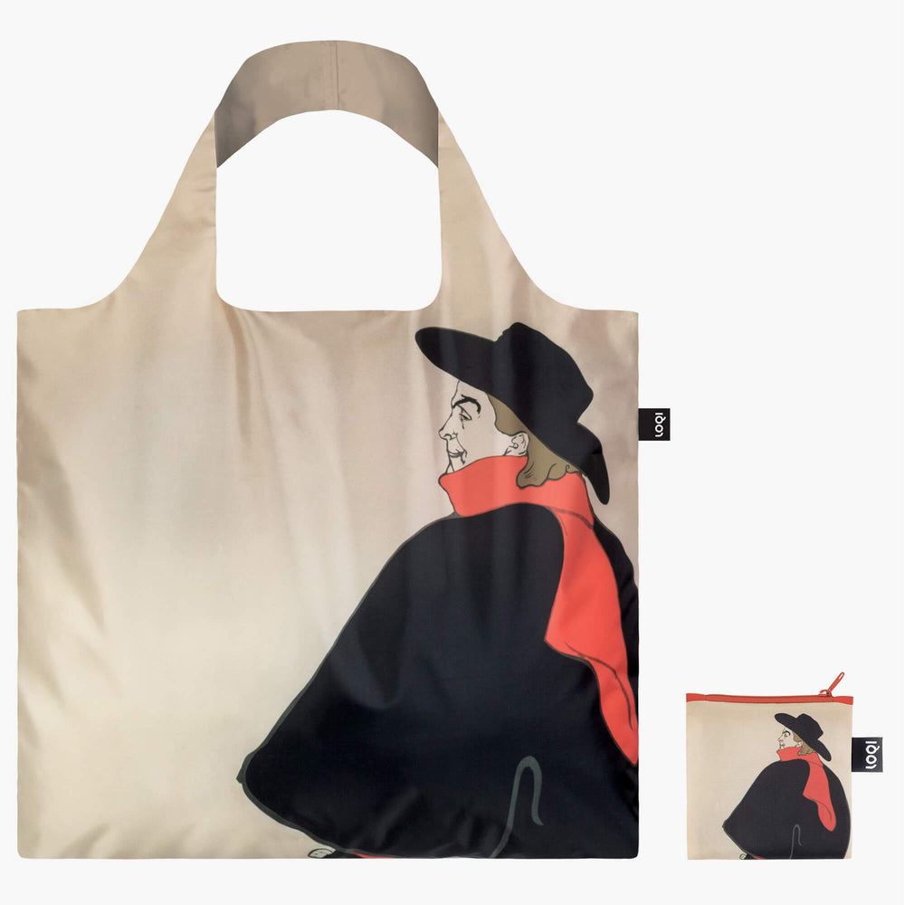 LOQI Henri de Toulouse-Lautrec Jane Avril & Aristide Bruant Bag Back with Zip Pocket