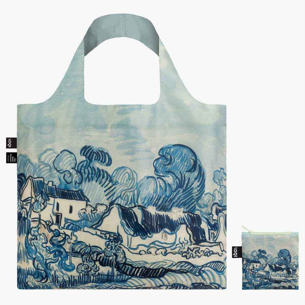 LOQI Vincent van Gogh Old Vineyard and Landscape Bag Front with Zip Pocket